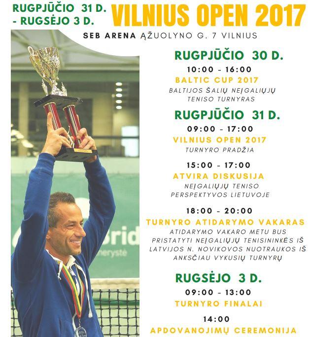 Kvietimas į Vilnius Open 2017